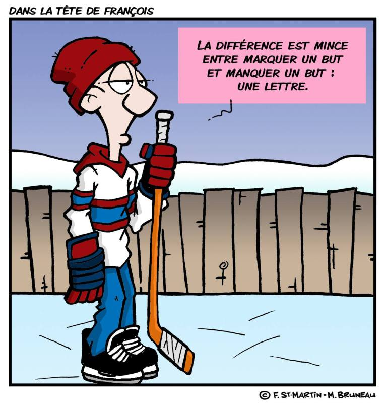 Hockey Dans la tête de François