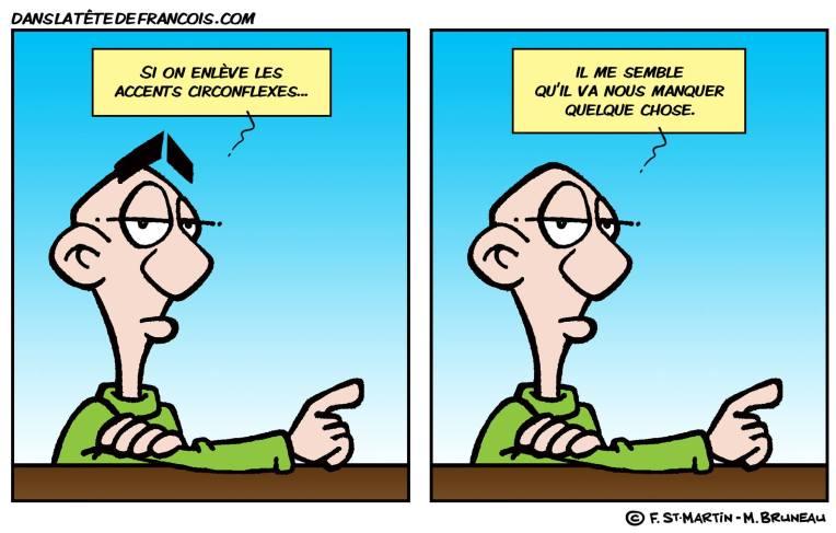 L'accent circonflexe Dans la tête de François