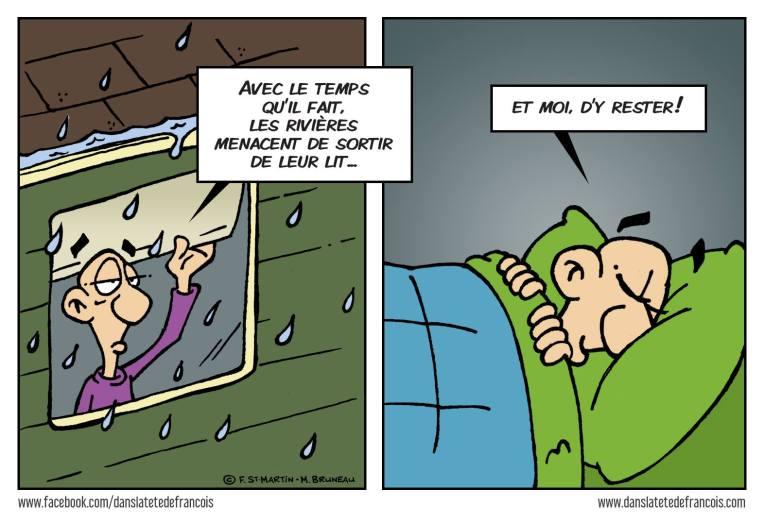 La pluie Dans la tête de François