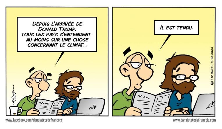 Changements climatiques accord de Paris Dans la tête de François