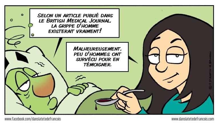 La grippe d'homme dans la tête de François