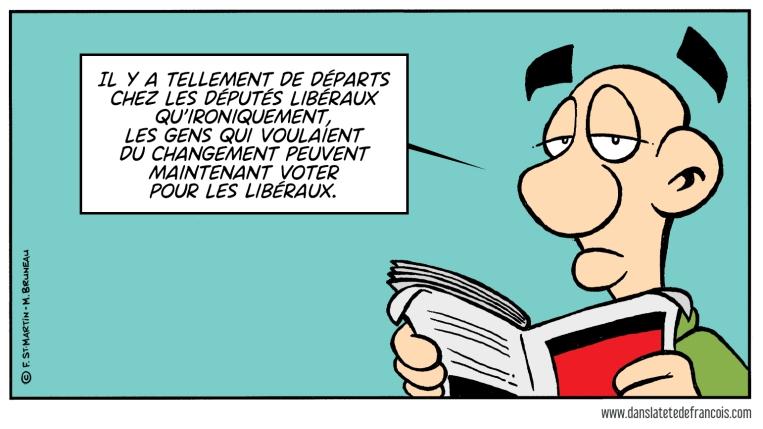 Départs au Parti Libéral du Québec